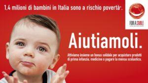 For a smile ONLUS in aiuto ai bambini a rischio povertà in Italia