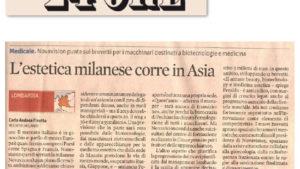"""""""L'estetica milanese corre in Asia."""""""