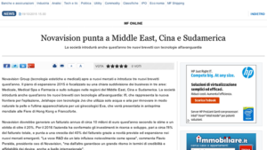 Novavision punta a Middle East, Cina e Sudamerica